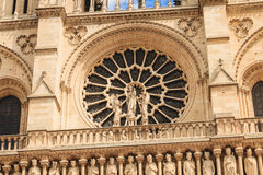 Detail of the architecture of Notre-Dame Cathedral Stock Photography