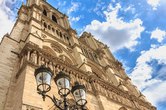 Detail of the architecture of Notre-Dame Cathedral Stock Image