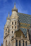 Detail of architecture on st. Stephen cathedral in Vienna Royalty Free Stock Photos