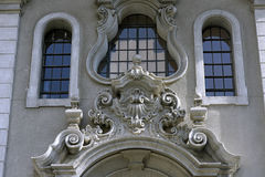 Detail of the arcs of the Law School windows in São Paulo Stock Photos