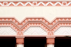 Detail on an Art Deco building in Napier Royalty Free Stock Photography