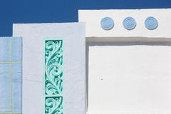Detail of Art Deco building in Ocean Drive Stock Photo
