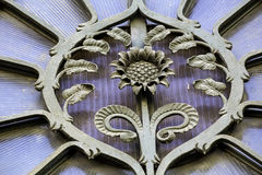 Detail on Art Nouveau building, Riga Lat Royalty Free Stock Images