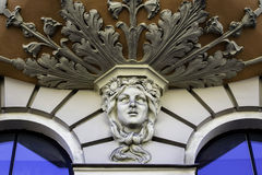 Detail on Art Nouveau building, Riga Latvia Royalty Free Stock Image