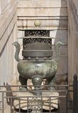 Detail of artifact inside the Forbidden City Beijing. The Forbidden City in Beijing China showing details of an of ancient pot artifact Stock Photography