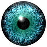 Detail of artifical generated blue eye Stock Photography