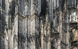 Detail of the artwork on the Dom church, Koln germany. Koln Dom, Germany. Detail of great gothic detailing Royalty Free Stock Image