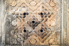 Detail of artwork at the Khajuraho temple Stock Photo