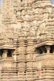 Detail of artwork at the Khajuraho temples Stock Photo