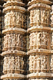 Detail of artwork at the Khajuraho temples Royalty Free Stock Photos