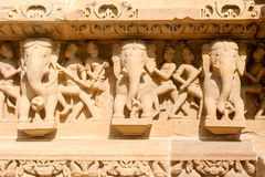Detail of artwork at the Khajuraho temples Stock Photography