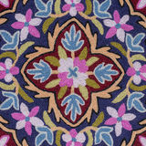 Detail asian carpet on sale at shop in the Thamel District of Kathmandu, Nepal. Stock Photography