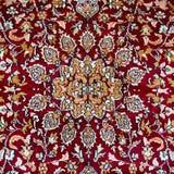 Detail asian carpet on sale at shop in the Thamel District of Kathmandu, Nepal. Stock Photos