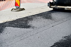 Detail with asphalt paving Stock Images