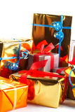 Detail of assortment of gift boxes Stock Photos
