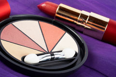 Detail of assortment of makeups Royalty Free Stock Images