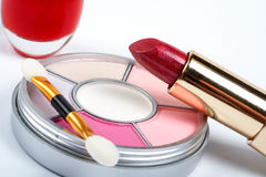 Detail of assortment of makeups Royalty Free Stock Photography
