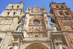 Detail of Astorga's Cathedral facade Royalty Free Stock Images