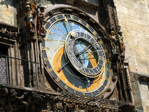 Detail of Astronomical Clock - Czech Republic, Prague, Old Town Square royalty free stock images