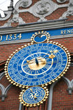 Detail of astronomical clock on the House of Blackheads, Riga, Latvia Royalty Free Stock Photography