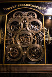 Detail of astronomical clock - Notre Dame in Strasbourg Stock Photography