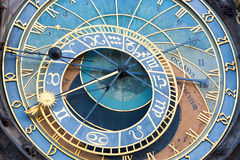 Detail of the astronomical clock in the Old Town Square in Prague, Czech Republic Royalty Free Stock Photos