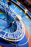 Detail from the astronomical clock in Prague. Czech Republic Stock Photo