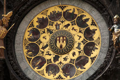 A detail of the astronomical clock in Prague, Czec. H republic in the Old Town Square. Photo 3 Royalty Free Stock Photo