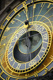 Detail of the astronomical clock in Prague Royalty Free Stock Photo