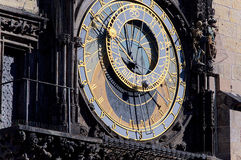 Detail of the Astronomical Clock in Prague's Old Town Square Royalty Free Stock Images