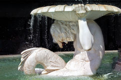 Detail of Athene fountain in Vienna Stock Photo