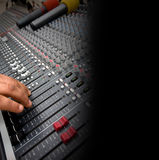 Detail of Audio Mixing Console Stock Images