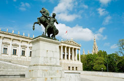 Detail of the Austrian Parliament Royalty Free Stock Photo