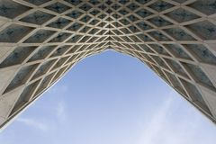Detail of Azadi Tower gate formerly known as the Shahyad Tower i. TEHRAN, IRAN - 7 May 2018 Detail of Azadi Tower gate formerly known as the Shahyad Tower is a stock photo