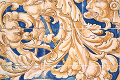 Detail of azulejos, Plaza de Espana in Sevilla Stock Images