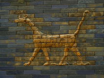 Detail of the Babylonian Procession Street. Ishtar Goddess Gates, in Pergamonmuseum, Berlin, Germany Stock Images
