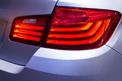 Detail on the back light of city car Stock Images