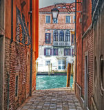 Detail of a backstreet in Venice Stock Image