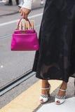 Detail of bag at Milan Fashion Week Stock Photo