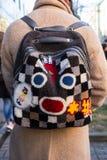 Detail of bag at Milan Men`s Fashion Week Royalty Free Stock Photo