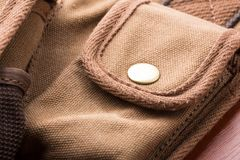 Detail of bag pocket Stock Photography