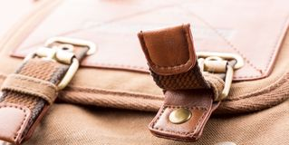 Detail of bag pocket Royalty Free Stock Photo