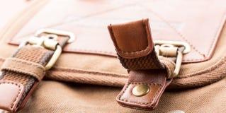 Detail of bag pocket Royalty Free Stock Photo