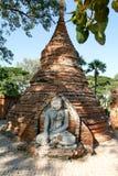 Detail of the Bagaya Monastery in the ancient city of Innwa (Ava. ) near Mandalay in Myanmar Stock Images