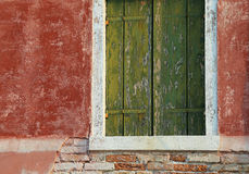 Detail of the balcony of a colorful house on the island of Buran Royalty Free Stock Image