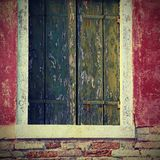 Detail of the balcony of a colorful house on the island of Buran Royalty Free Stock Photos