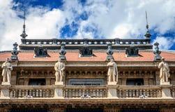 Budapest, Hungarian Opera. Detail of the balcony of the opera building in Budapest, Hungary Royalty Free Stock Image