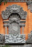 Detail of Balinese carved relief Stock Photo