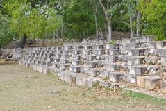Detail of the ball court in Uxmal Royalty Free Stock Image