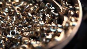 Detail-Ball-Spinnen Bereiten Sie für die Verarbeitung vor stock footage